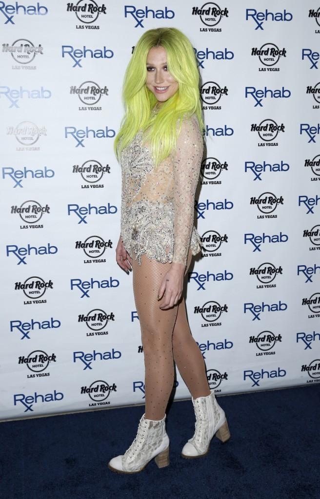 Photos : Kesha fait une apparition remarquée et colorée à Las Vegas !
