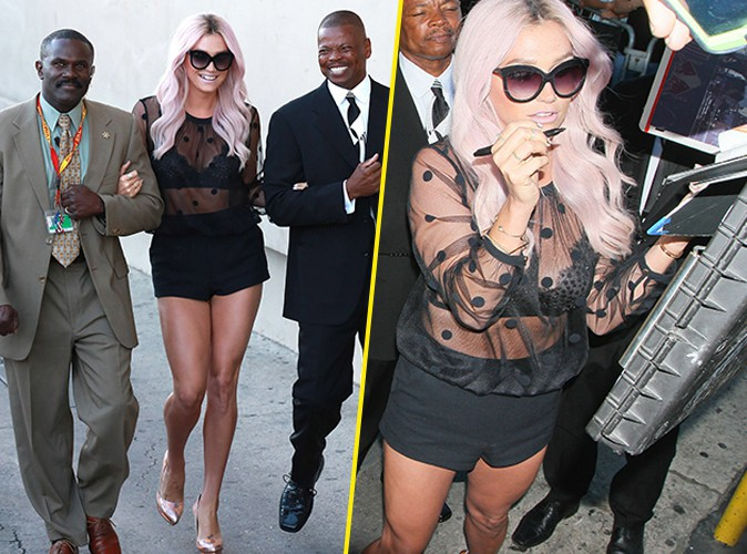 Photos : Kesha : ultra-sexy pour rejoindre le plateau de Jimmy Kimmel !