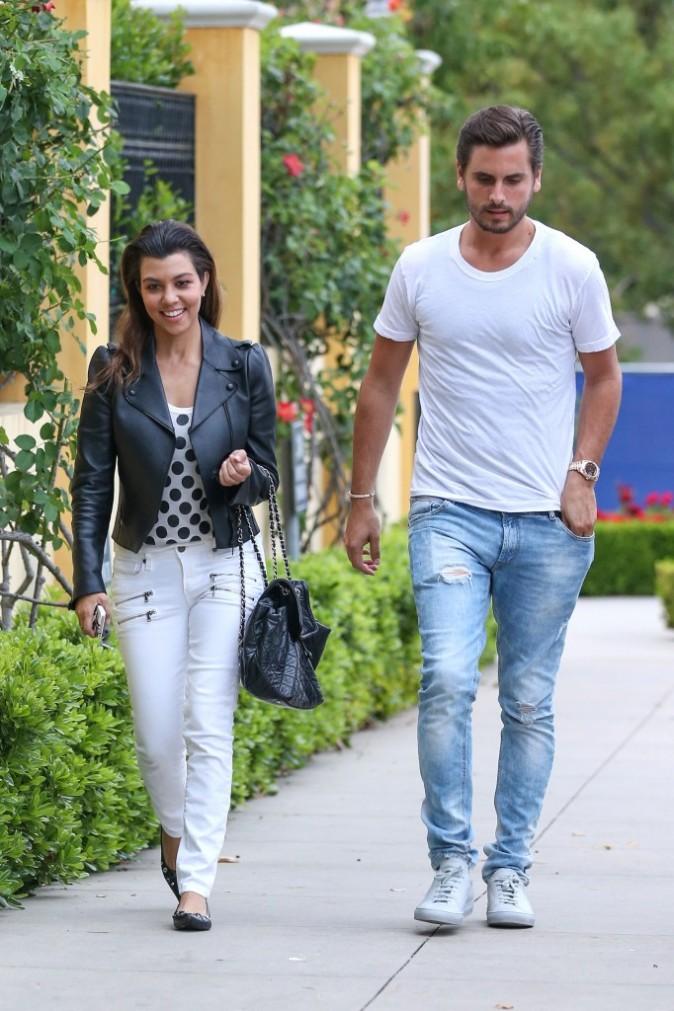 Kourtney Kardashian et Scott Disick, Calabasas, 24 juin 2013.