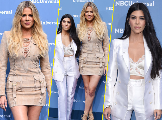 Khloe et Kourtney Kardashian au Up Front de NBC à New York le 16 mai