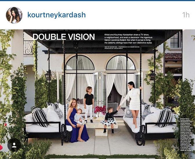 Photos : Khloé et Kourtney Kardashian vous présentent leurs nids douillets