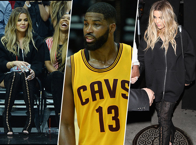 Photos : Khloe Kardashian : Au premier rang pour soutenir son chéri Tristan Thompson !