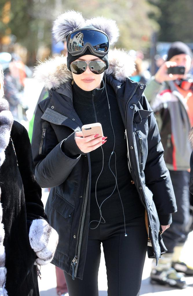 Khloé Kardashian en vacances à Vail (Colorado), le 7 avril 2016