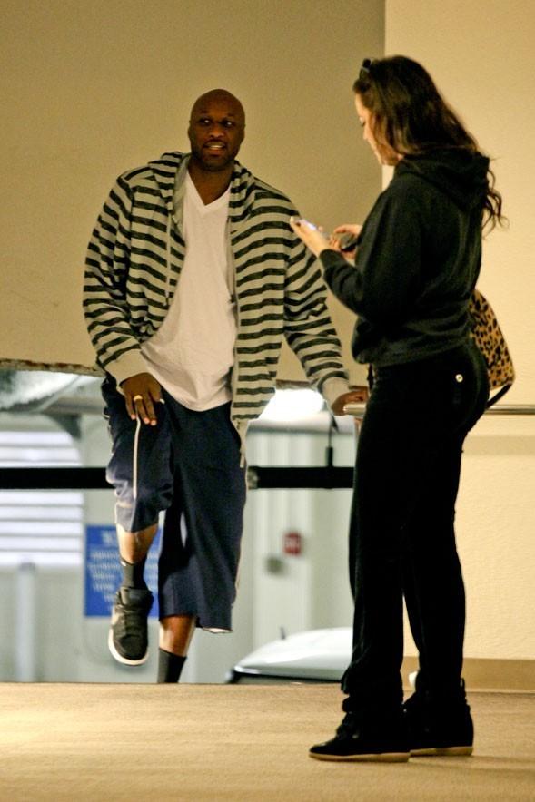Khloé Kardashian et Lamar Odom à Los Angeles le 18 décembre 2012