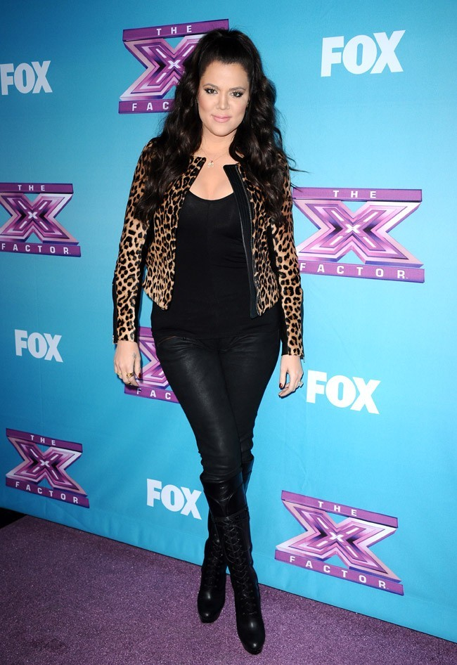 Khloé Kardashian à Los Angeles pour une soirée X Factor le 17 décembre 2012