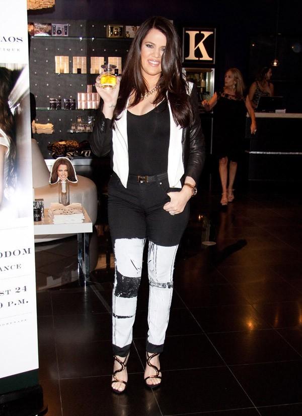 Khloé Kardashian en promo pour son parfum à Las Vegas le 24 août 2012