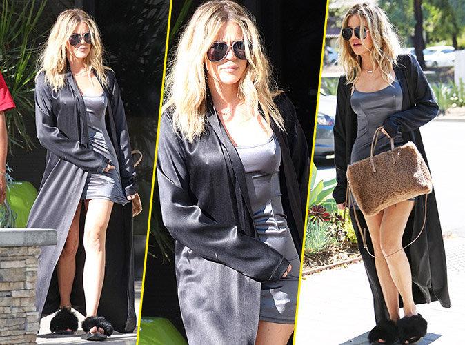 Photos : Khloe Kardashian : En nuisette pour se rendre au travail !