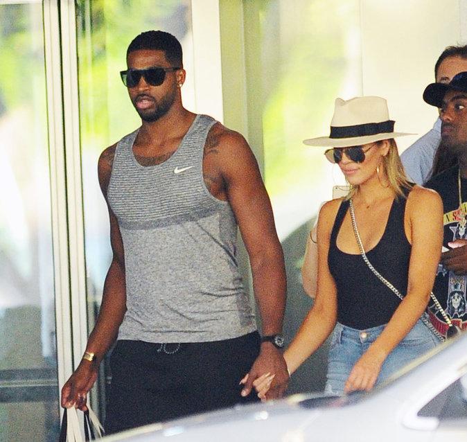 Khloe Kardashian et Tristan Thompson à Miami le 18 septembre 2016