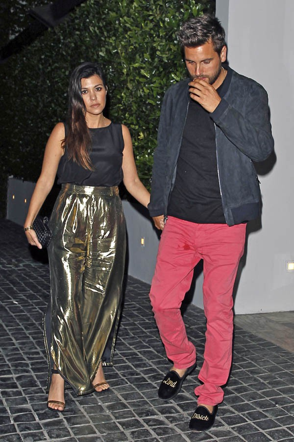 Kourtney Kardashian et Scott Disick à West Hollywood le 10 avril 2014