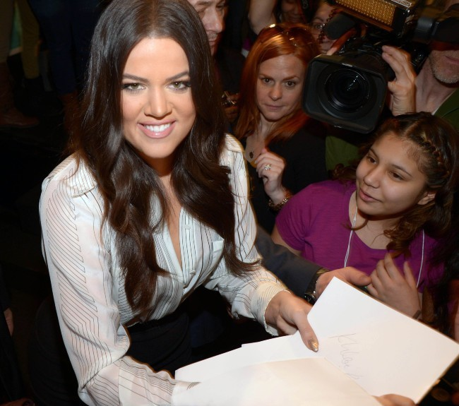 """Khloe Kardashian lors du lancement de la campagne """"Kotex's Generation Know"""" à New York, le 31 janvier 2013."""