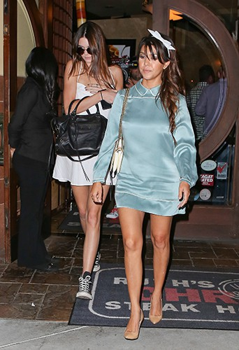 Kendall Jenner et Kourtney Kardashian à Los Angeles le 23 septembre 2013