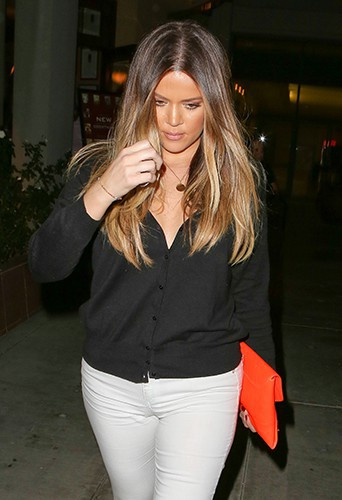 Khloe Kardashian en famille à Los Angeles le 23 septembre 2013