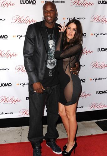 Khloé Kardashian et Lamar Odom en 2009