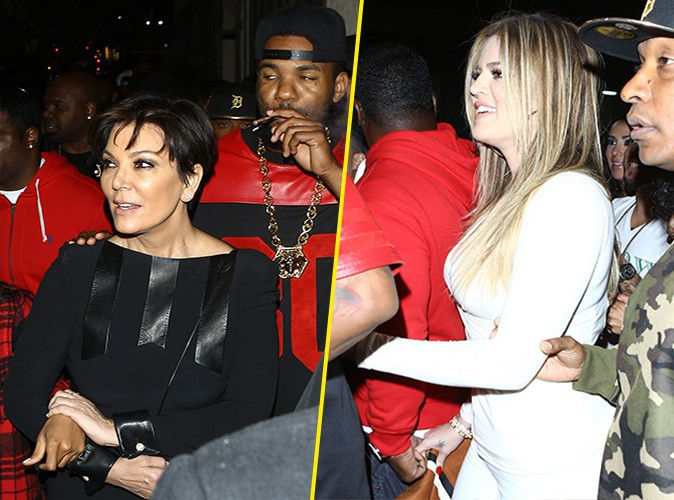 Kris Jenner, Khloé Kardashian et The Game à Los Angeles le 10 février 2014