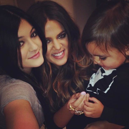 Kylie, Khloé et Mason