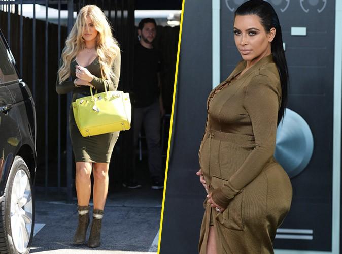 Khloe Kardashian le 31 août 2015 et Kim Kardashian le 30 août 2015