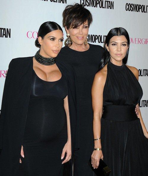 Kim, Kris et Kourtney à la soirée des 50 ans de Cosmopolitan, le 12 octobre 2015