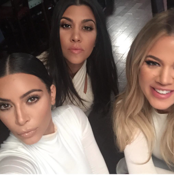 Kim, Khloe et Kourtney Kardashian le 7 juillet 2015