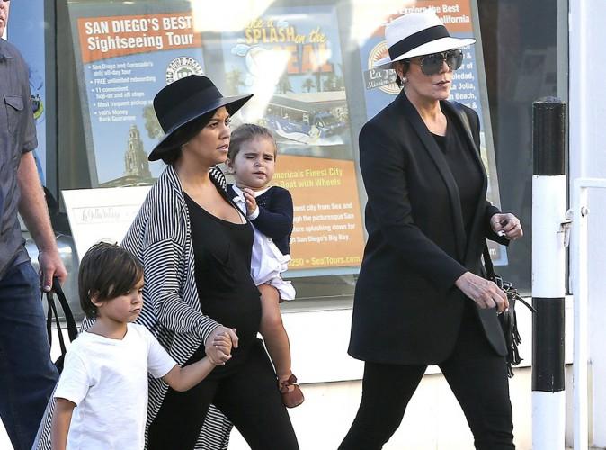 Kourtney Kardashian en famille à San Diego le 22 août 2014