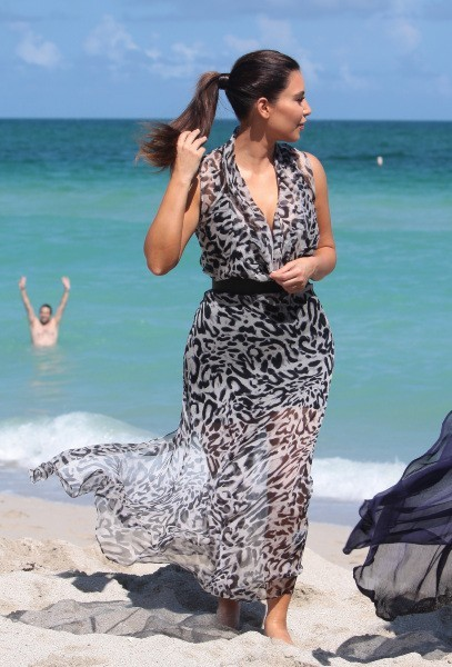Kim Kardashian sur la plage à Miami, le 3 octobre 2012.