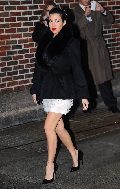 Kourtney Kardashian le 16 janvier 2013 à New York