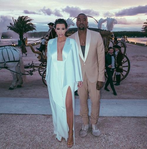 Kim et Kanye fêtent leur un an de mariage à Versailles
