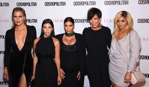 Kim Kardashian ses soeurs et sa mère, en octobre 2015