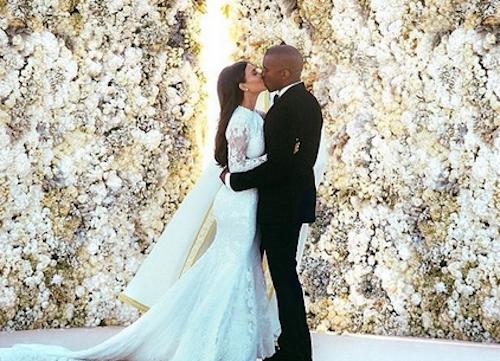 La photo de son mariage avec Kanye West, en 2014, longtemps la plus likée d'Instagram: 2,5 millions de like