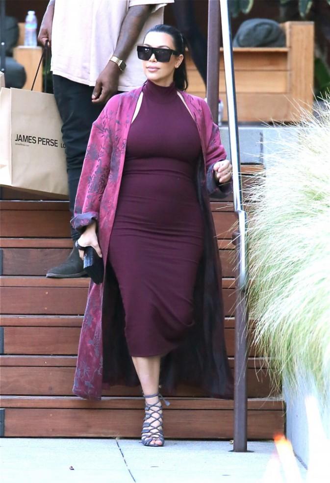 Kim Kardashian et Kanye West à Malibu, le 11 juillet