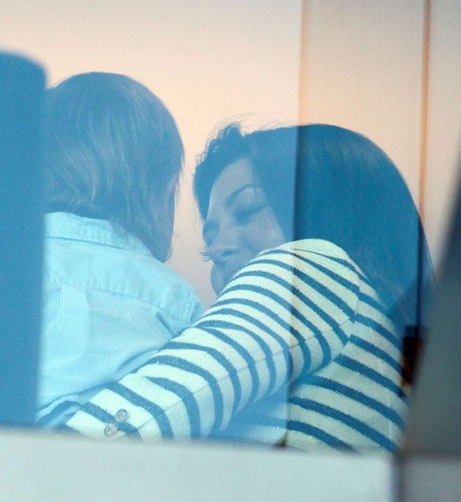 Kourtney Kardashian se rendant dans la boutique Vera Wang à Los Angeles, le 17 août 2011.