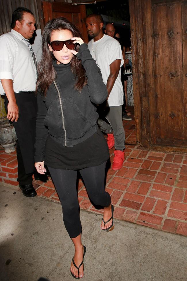 Kim Kardashian à Beverly Hills avec Kanye West le 16 septembre 2014