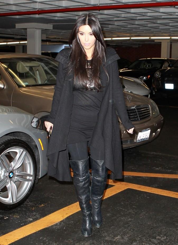 Kim Kardashian de retour à Beverly Hills, le 5 janvier 2012.