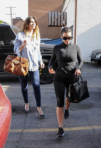 Brittny Gastineau et Kim Kardashian à Los Angeles le 16 mai 2014