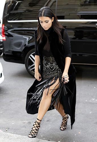 Kim Kardashian à Paris le 29 septembre 2014