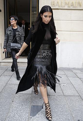 Kim Kardashian et Kris Jenner à Paris le 29 septembre 2014