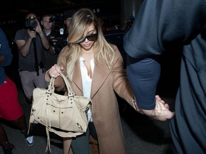 Kim Kardashian à l'aéroport de Los Angeles le 2 octobre 2013
