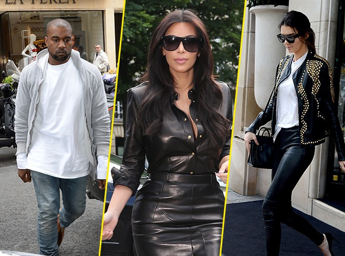 Kanye West, Kim Kardashian et Kendall Jenner à Paris le 22 mai 2014