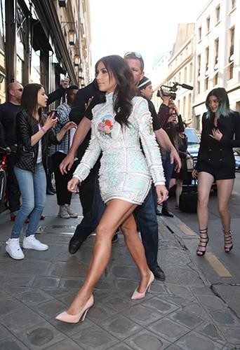 Kim Kardashian et Kylie Jenner à Paris le 22 mai 2014