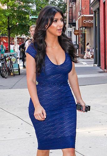 Kim Kardashian à New York le 7 juillet 2014