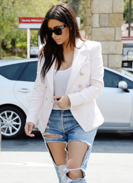 Kim Kardashian à Calabasas, le 21 avril 2014.