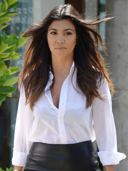 Kourtney Kardashian à Calabasas, le 21 avril 2014.