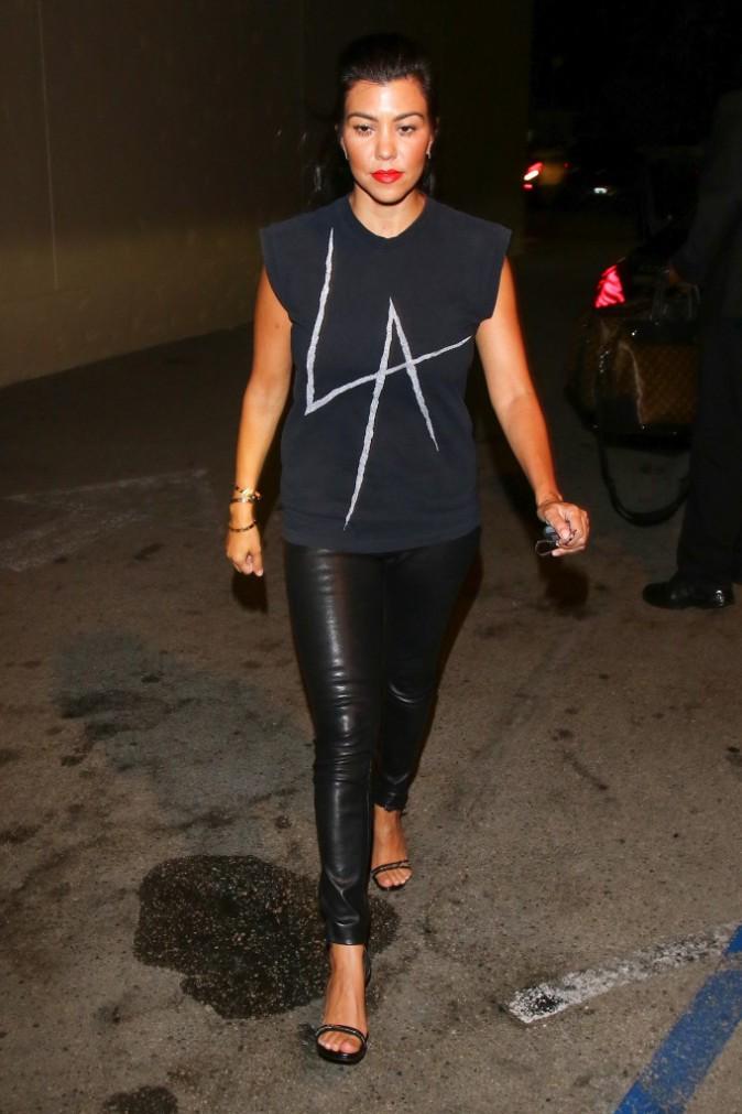 Kourtney Kardashian le 22 août 2015