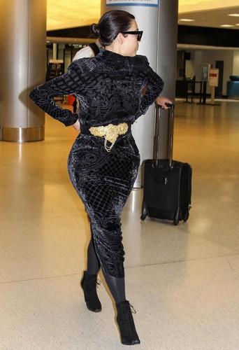 Kim Kardashian à Miami le 14 avril 2014