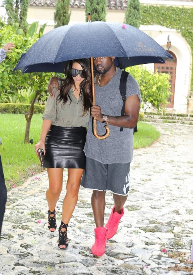 Kim Kardashian et Kanye West à Miami, le 8 octobre 2012.