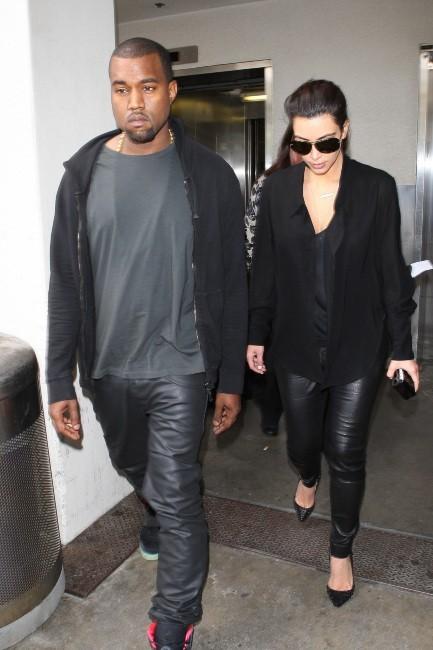 Kim Kardashian et Kanye West à Los Angeles, le 16 juillet 2012.