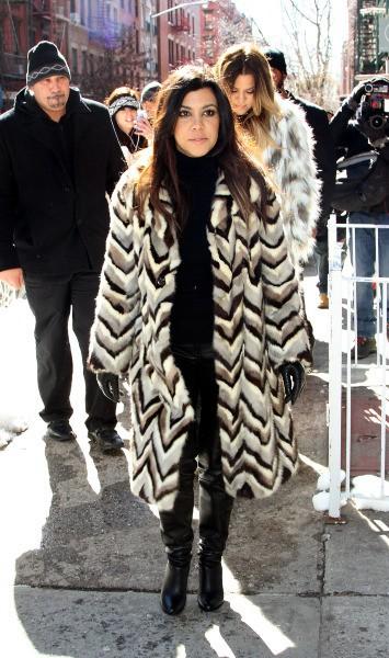 Kourtney Kardashian à New York, le 17 février 2014.