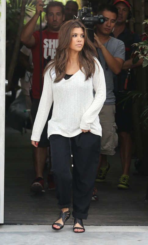 Kourtney Kardashian à Miami, le 10 octobre 2012.
