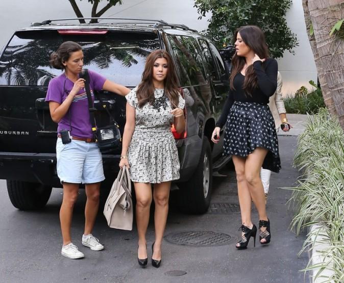 Les soeurs Kardashian à Miami, le 10 octobre 2012.