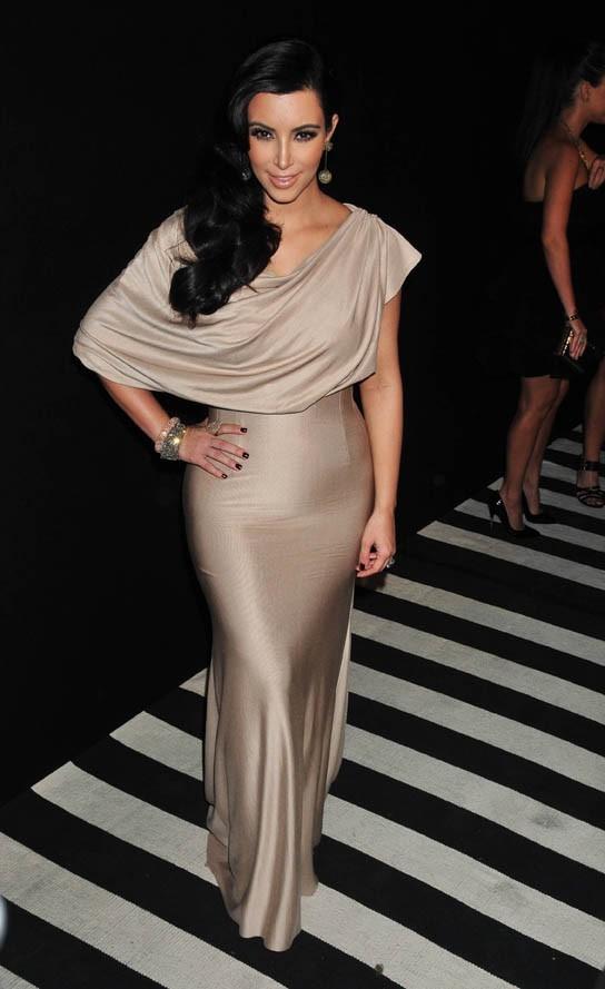 Kim Kardashian lors de sa seconde soirée de mariage à New York, le 31 août 2011.