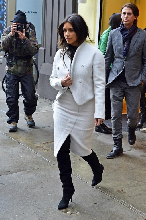 Kim Kardashian à New-York le 18 février 2014